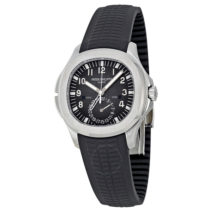 3b2cd63c633 Top Quality Patek Philippe Aquanaut Dual Time Black Dial Automatic ...