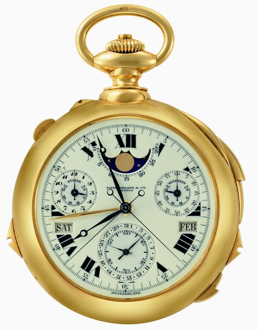 Sotheby's To Re-Auction The Patek Philippe Supercomplication, The Most Expensive Pocket Watch Ever Sales & Auctions